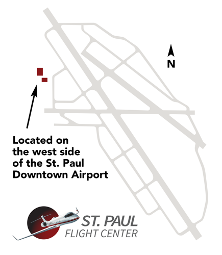 St Paul Flight Map
